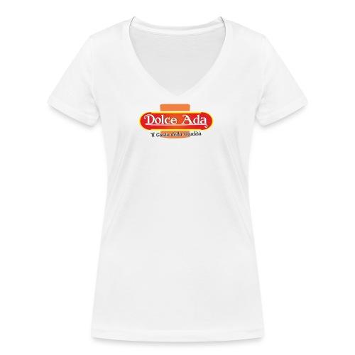 DolceAda il gusto della qualità - T-shirt ecologica da donna con scollo a V di Stanley & Stella
