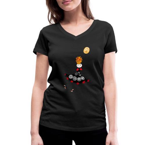 Ballerina con palloncino - T-shirt ecologica da donna con scollo a V di Stanley & Stella