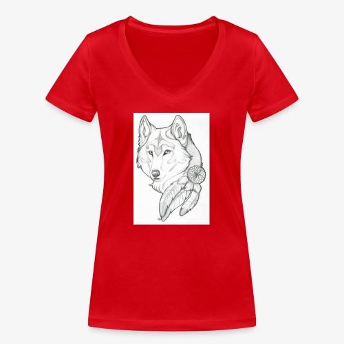 wolf - Vrouwen bio T-shirt met V-hals van Stanley & Stella