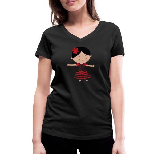 Happy Meitlis - Spanien - Frauen Bio-T-Shirt mit V-Ausschnitt von Stanley & Stella