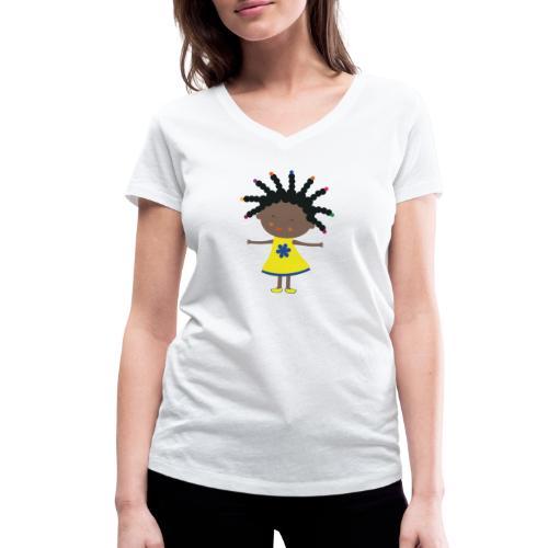 Happy Meitlis - Afrika - Frauen Bio-T-Shirt mit V-Ausschnitt von Stanley & Stella