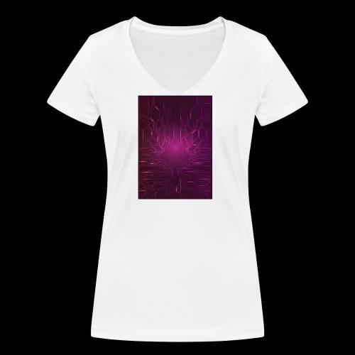 ElecGlow - Økologisk Stanley & Stella T-shirt med V-udskæring til damer