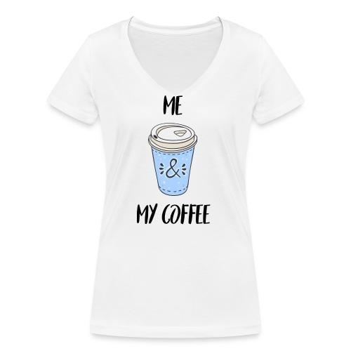 Me and my coffeee - Frauen Bio-T-Shirt mit V-Ausschnitt von Stanley & Stella