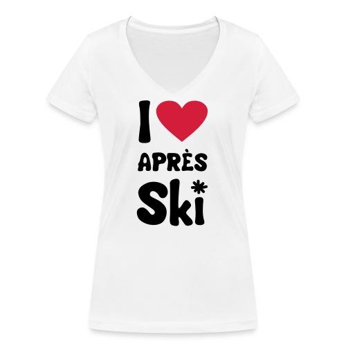 T-Shirt I love apres ski - Frauen Bio-T-Shirt mit V-Ausschnitt von Stanley & Stella