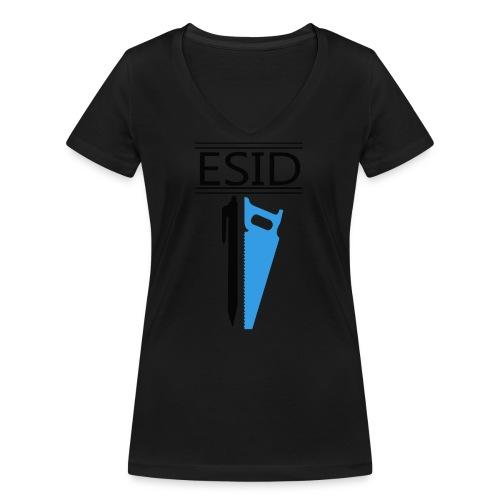 ESID Zwart-blauw - Vrouwen bio T-shirt met V-hals van Stanley & Stella