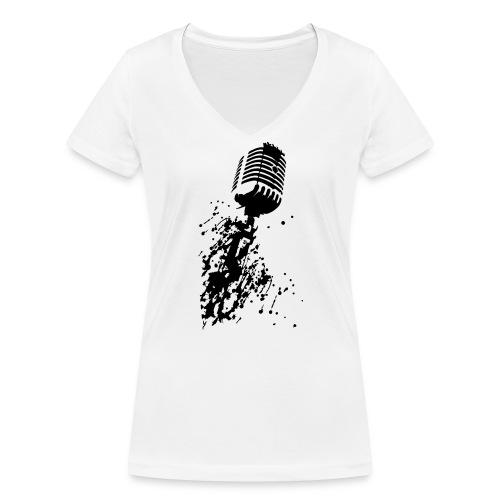 dirtymic - Vrouwen bio T-shirt met V-hals van Stanley & Stella