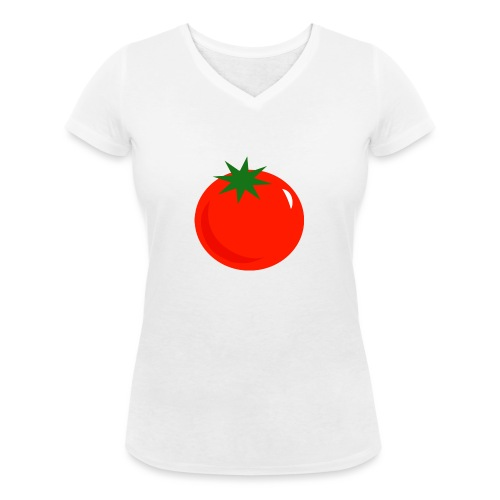 Tomate - Camiseta ecológica mujer con cuello de pico de Stanley & Stella