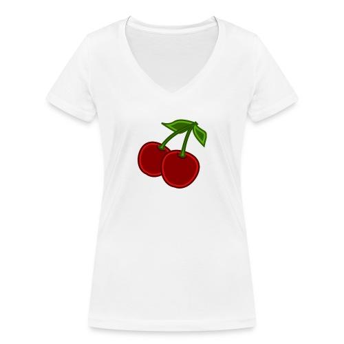 cherry - Ekologiczna koszulka damska z dekoltem w serek Stanley & Stella