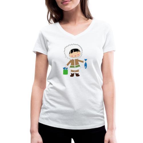 Happy Meitlis - Alaska - Frauen Bio-T-Shirt mit V-Ausschnitt von Stanley & Stella
