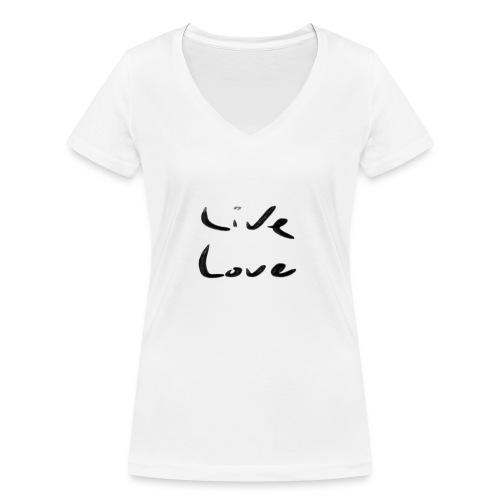Live Love - T-shirt bio col V Stanley & Stella Femme