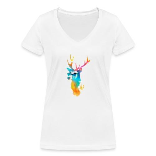 Sunny Summer - Camiseta ecológica mujer con cuello de pico de Stanley & Stella