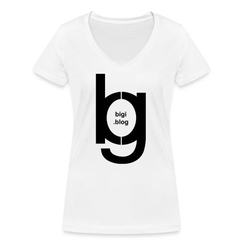 bigi logo black - Frauen Bio-T-Shirt mit V-Ausschnitt von Stanley & Stella