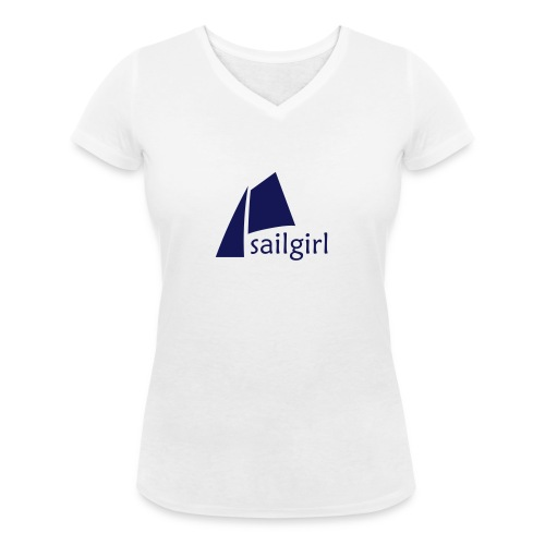 sailgirl logo2 - Frauen Bio-T-Shirt mit V-Ausschnitt von Stanley & Stella