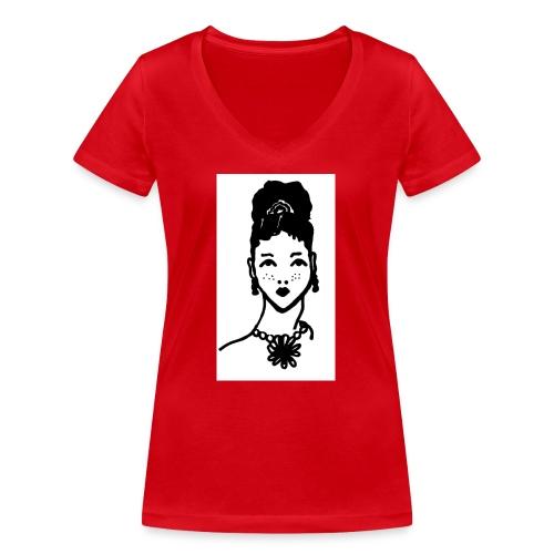 Zahara2 - Camiseta ecológica mujer con cuello de pico de Stanley & Stella