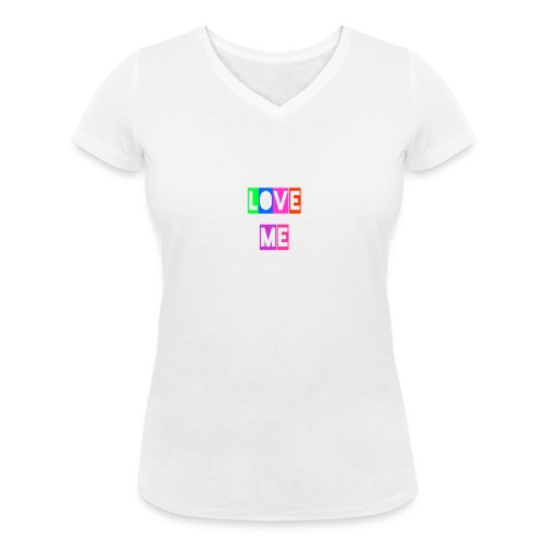LoveMe - Camiseta ecológica mujer con cuello de pico de Stanley & Stella