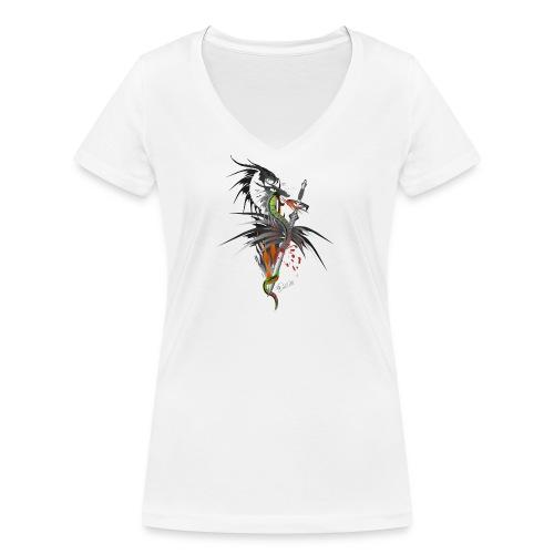 Dragon Sword - Drachenkampf - Frauen Bio-T-Shirt mit V-Ausschnitt von Stanley & Stella