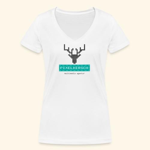 PIXELHIRSCH - Logo - Frauen Bio-T-Shirt mit V-Ausschnitt von Stanley & Stella