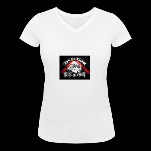 elsace-supermot - T-shirt bio col V Stanley & Stella Femme