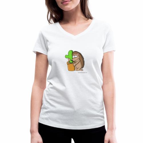 Igel-Liebe - Frauen Bio-T-Shirt mit V-Ausschnitt von Stanley & Stella
