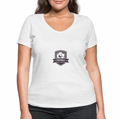 football - Frauen Bio-T-Shirt mit V-Ausschnitt von Stanley & Stella