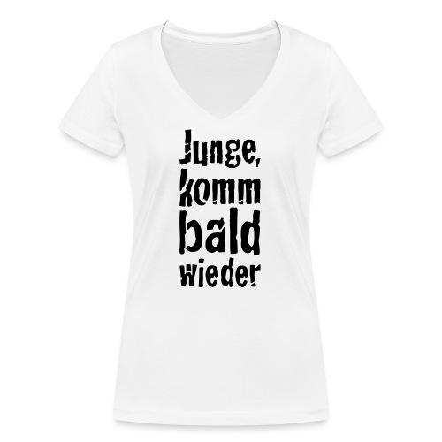 junge, komm bald wieder - Frauen Bio-T-Shirt mit V-Ausschnitt von Stanley & Stella