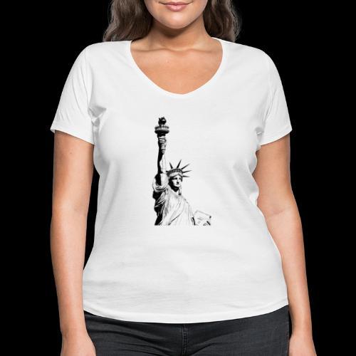 Freedom - Frauen Bio-T-Shirt mit V-Ausschnitt von Stanley & Stella