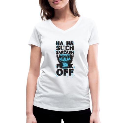 Sarcasm - Ekologisk T-shirt med V-ringning dam från Stanley & Stella