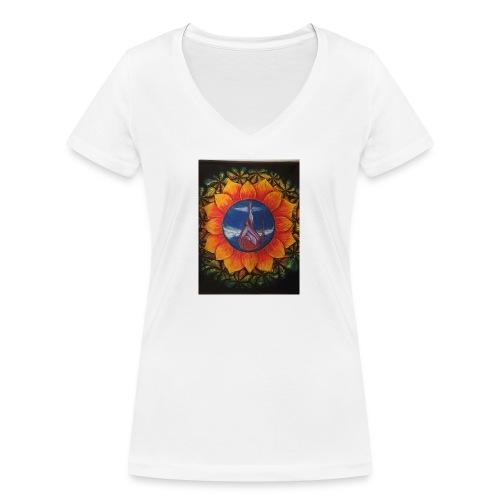 Children of the sun - Økologisk T-skjorte med V-hals for kvinner fra Stanley & Stella