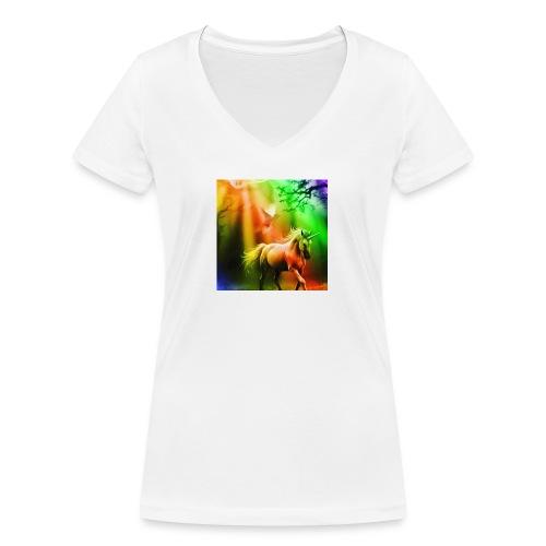 SASSY UNICORN - Women's Organic V-Neck T-Shirt by Stanley & Stella