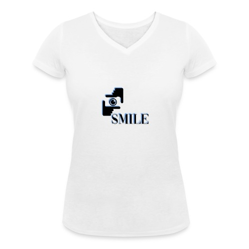 Smile - T-shirt bio col V Stanley & Stella Femme