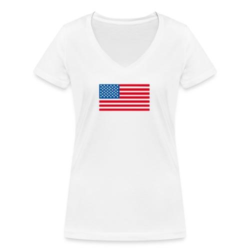 Verenigde Staten vlag jpg - Vrouwen bio T-shirt met V-hals van Stanley & Stella