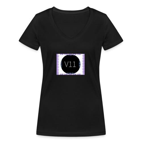 V11's first clothes - Ekologisk T-shirt med V-ringning dam från Stanley & Stella
