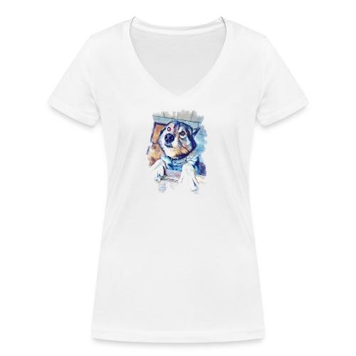 Rocky - Frauen Bio-T-Shirt mit V-Ausschnitt von Stanley & Stella