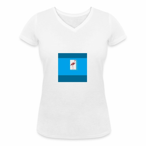 Flamingoscotteri - T-shirt ecologica da donna con scollo a V di Stanley & Stella