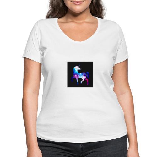 Licorne - T-shirt bio col V Stanley & Stella Femme