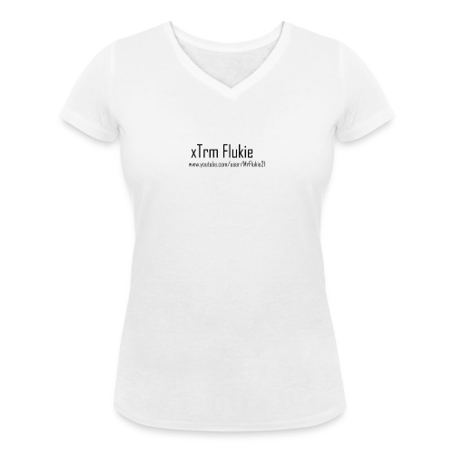 xTrm Flukie - Women's Organic V-Neck T-Shirt by Stanley & Stella