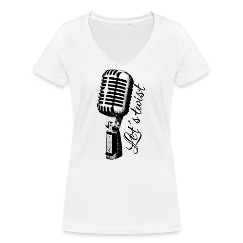 Mikrofon - Frauen Bio-T-Shirt mit V-Ausschnitt von Stanley & Stella