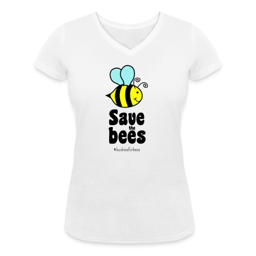 Bees9-1 save the bees | Bienen Blumen Schützen - Women's Organic V-Neck T-Shirt by Stanley & Stella