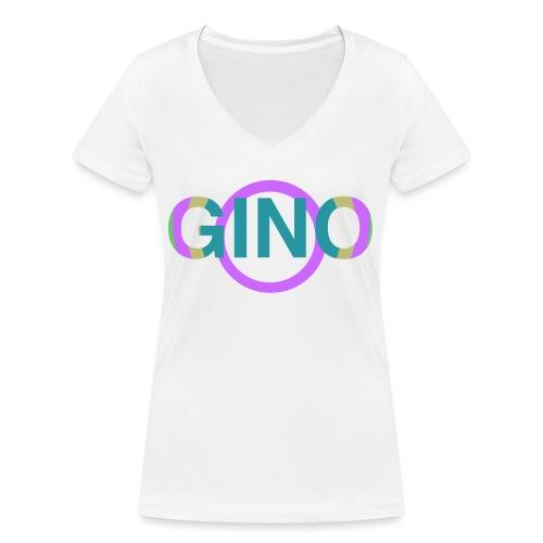 Gino - Vrouwen bio T-shirt met V-hals van Stanley & Stella