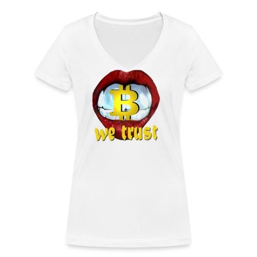 bitcoin t shirt design 9 png - Frauen Bio-T-Shirt mit V-Ausschnitt von Stanley & Stella