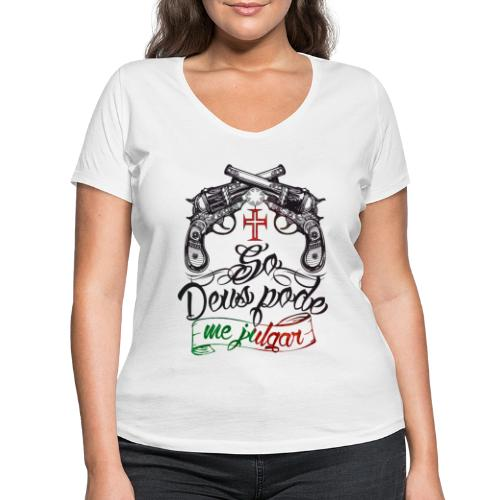 Seul dieu peut me juger - T-shirt bio col V Stanley & Stella Femme