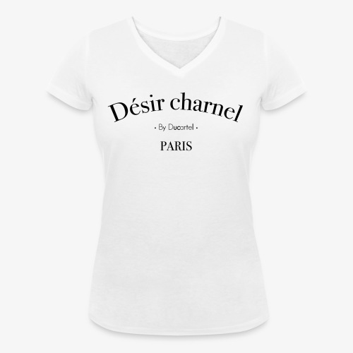 Désir charnel - T-shirt bio col V Stanley & Stella Femme