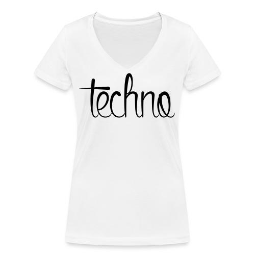 Techno - Vrouwen bio T-shirt met V-hals van Stanley & Stella