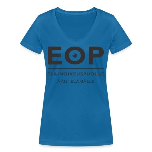 EOP Logo slogan musta - Stanley & Stellan naisten v-aukkoinen luomu-T-paita