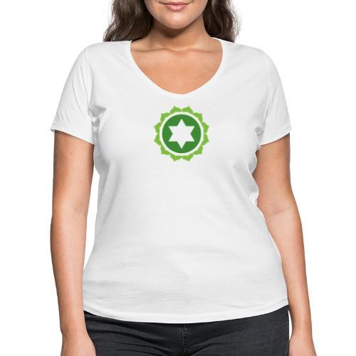 The Heart Chakra, Energy Center Of The Body - Women's Organic V-Neck T-Shirt by Stanley & Stella