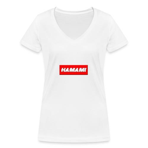 HAMAMI - T-shirt ecologica da donna con scollo a V di Stanley & Stella