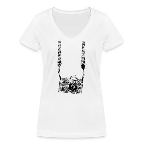 Kamera - Frauen Bio-T-Shirt mit V-Ausschnitt von Stanley & Stella