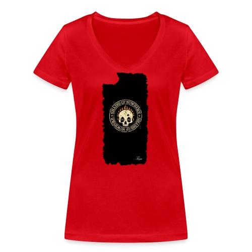 iphonekuorettume - Stanley & Stellan naisten v-aukkoinen luomu-T-paita