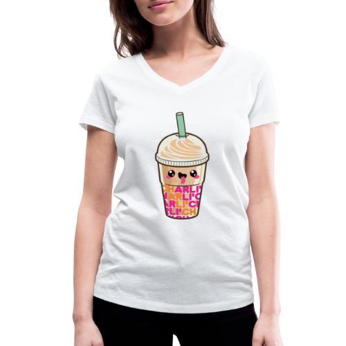 00411 Iced Coffee Charli Damelio - Camiseta ecológica mujer con cuello de pico de Stanley & Stella