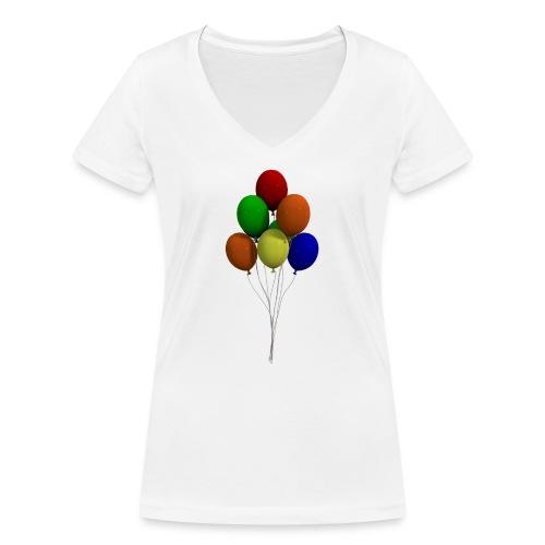 Party Ballons - Frauen Bio-T-Shirt mit V-Ausschnitt von Stanley & Stella